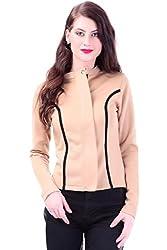 Sassafras Women's Jacket (SFJCKT6001 _Beige_Small)
