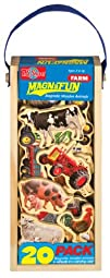 Farm Vehicles Wooden Magnets 20 Piece…