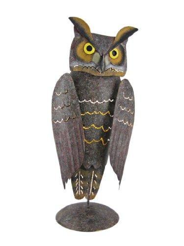 Painted Metal Owl