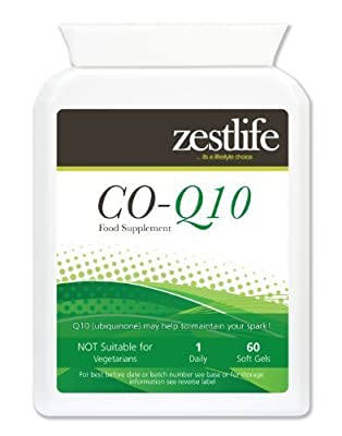 Zestlife Co-Enzyme Q10 (COQ10) 300mg * On Special Offer * 60 soft gels A boost for the immune system. Gluten FREE.
