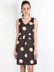 Oshea Brown Polka Dot Tailored Dress