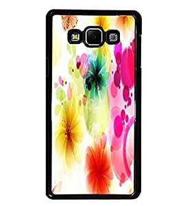 PrintDhaba Floral Pattern D-1107 Back Case Cover for SAMSUNG GALAXY A7 (Multi-Coloured)
