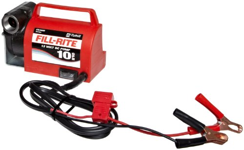 Fill-Rite FR1612 Portable Diesel Fuel Transfer Pump – 12 V DC, 10 GPM, 1/5 HP, 3/4″ NPT Inlet, No Nozzle