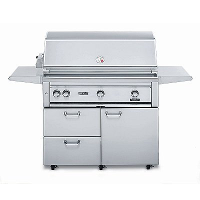 Lynx 42-inch Freestanding Grill with Rotisserie and Pro-Sear Burner - Brown Gas - Frontgate
