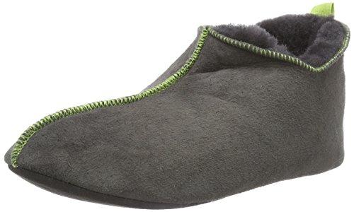 Shepherd ANDERS SLIPPER, Pantofole imbottite uomo, Grigio (Grau (Asphalt/Lime 62)), 46