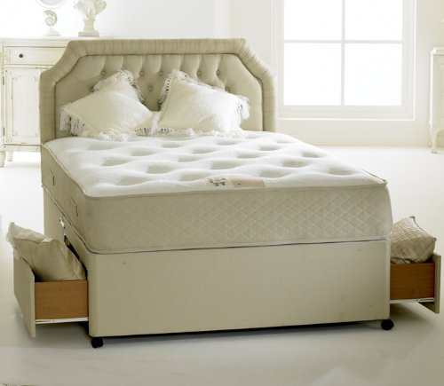 Clifton Royal 4.6ft Double Divan Set with 2 Drawers Pocket Spring, Orthopaedic