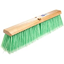 "Magnolia Brush 618 LH Line Floor Brush, Flagged-Tip Plastic Bristles, 4"" Trim, 18"" Length, Light Green (Case of 12)"