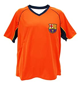 Barcelona Soccer Men's Away Polyshirt, Orange, Small