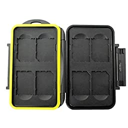 TPF Rugged Water-Resistant Memory Card Case For 2 CF 1 SXS Card