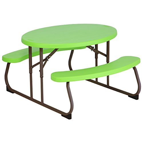 Find Cheap Lifetime 60132 Children's Oval Picnic Table, Lime Green