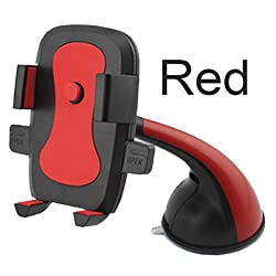 LipiWorld One Touch Universal Car Mount Holder/Stand for Universal All Smartphone-Red