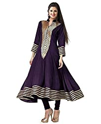 PariFashion Womens Georgette Unstitched Dress Material(PF8_Multi-Coloured_Free Size)