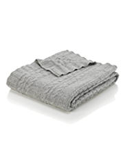 Wool Rich Cable Knit Throw