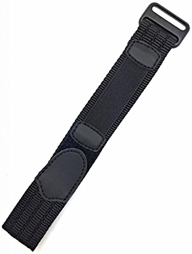 16-20Mm Adjustable-Length, Black, High Quality Nylon / Velcro Sport Watch Strap