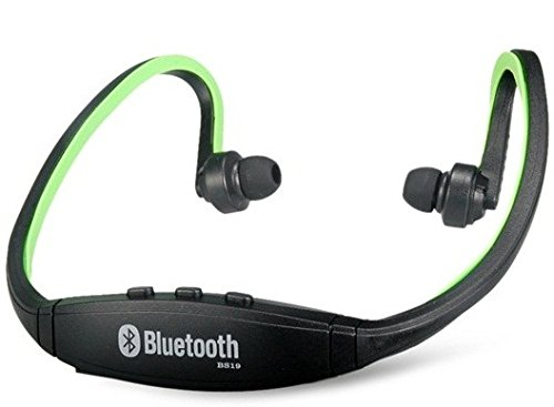 True Bs19 Wireless Bluetooth On-Ear Sports Headset Headphones (Green)