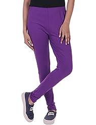 FashGlam Women Premium Cotton Leggings - Purple