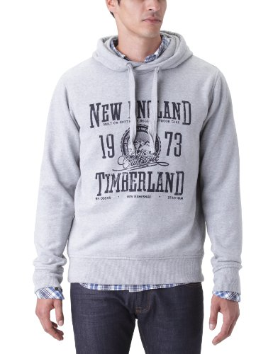 Timberland Overhead Logo Hoody Men's Sweatshirt Medium Grey Heather Small