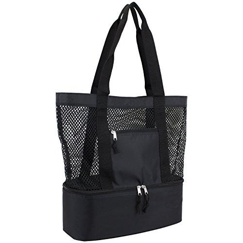 eastsport-mesh-tote-insulated-cooler-beach-bag-black
