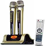 WOW Hindi Magic Mic Enter-Tech - Magic Sing Karaoke ET 18000 / ET18000 + Hindi Chip PACKAGE - 2070 UK Songs plus 200 Hindi - 2 Wireless Microphones - Latest 2009 Model with Multiplex Function CT500 Processor, My Mic Storage and SD Card Function !