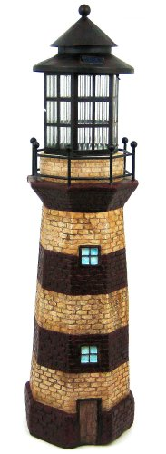 36 Inch Tall Lighthouse Outdoor Solar Light 3 Ft House