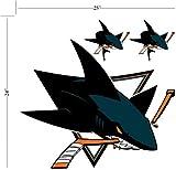 Trademarx San Jose Sharks Peel And Stick Wall Logo