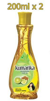 Kumarika Nourishing Lime & Dill Dandruff Control Herbal Hair Oil - 200Ml X 2