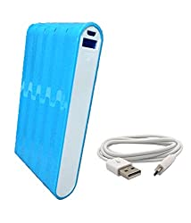 VOX 15000mAh Dual USB Powerbank Portable Charger for Mobile Tablet PK62-Blue