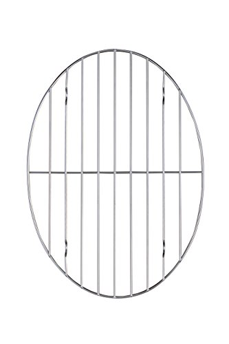 HIC Oval Wire Roasting Baking Broiling Rack, 12-Inches x 8.5-Inches (Roaster Pan For Small Oven compare prices)