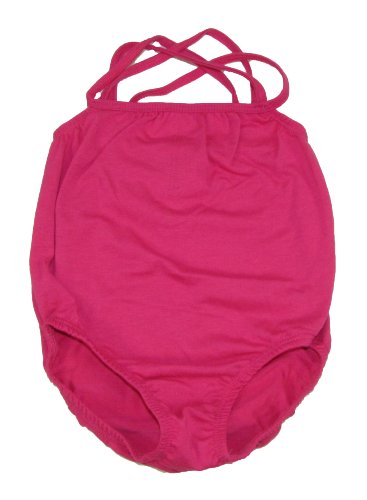Hot Pink Dance Or Ballet Leotard With Straps Medium Fits 2-4 Years front-295352
