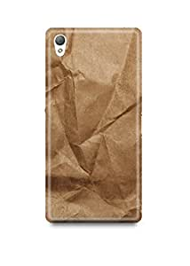 Crushed Brown Paper Sony Z5 Case