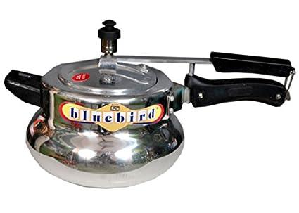 Elegant Blue Bird 2 L Aluminium Pressure Cooker (Inner Lid)