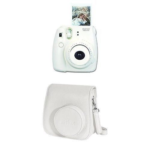 Fantastic Deal! Fujifilm Instax Mini 8 Instant Film Camera + Instax Groovy Camera Case (White)