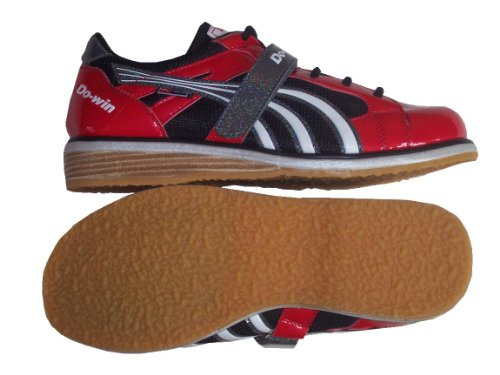 Do-Win weightlifting shoes 'Songyong' (inner strength), solid wooden heel wedge, UK 5-15, black/red