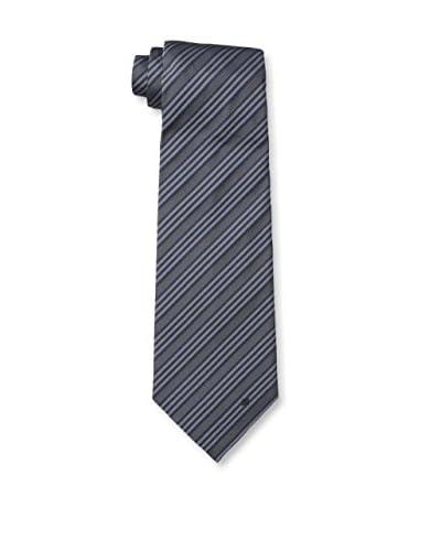 Givenchy Men's Stripe Tie, Grey/Blue