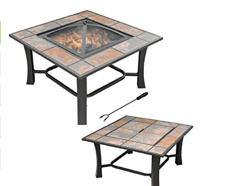 Outdoor Table Top Fire Pit Coffee Table W Free Cover Shopswell