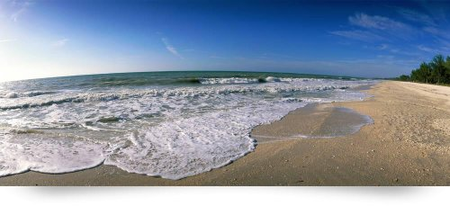 Ocean Waves On Beach Sanibel Island Fl (Giclee Art Print), Panoramic Images front-760922