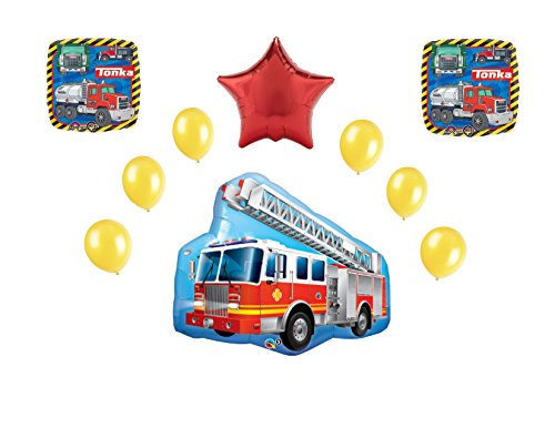 Tonka Firetruck 10pc. Balloon Bouquet - 1