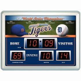 Detroit Tigers Clock - 14x19 Scoreboard by Casey