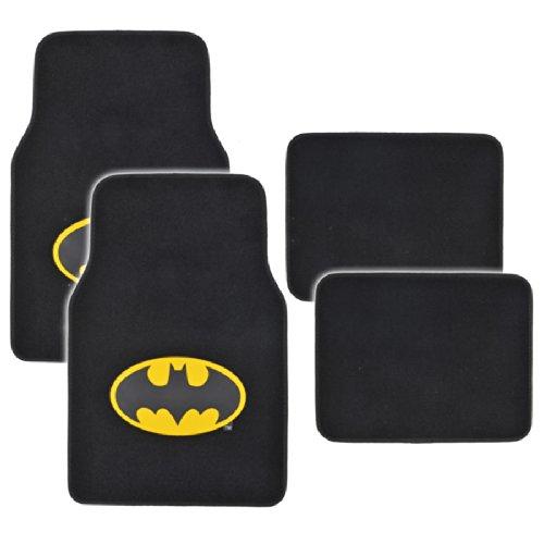 Bdk Wbmt-1301 Black Batman Carpet Floor Mat - 4 Piece front-576353
