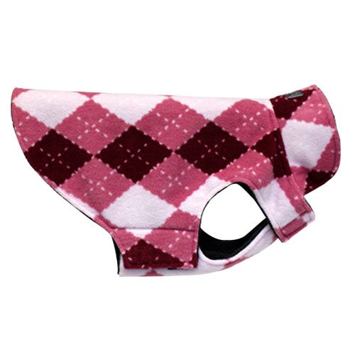 RC Pet Products Whistler Winter Wear Dog Coat, Size 18, Pink Argyle