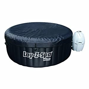 Lay-Z-Spa Miami Inflatable Hot Tub Spa - Black, 180 x 65 cm