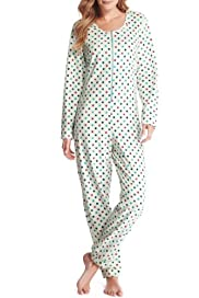 Zip Through Spotted Fleece Onesie [T37-9604-S]