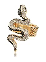 Amrita Singh Anillo Medusa Snake (Negro)