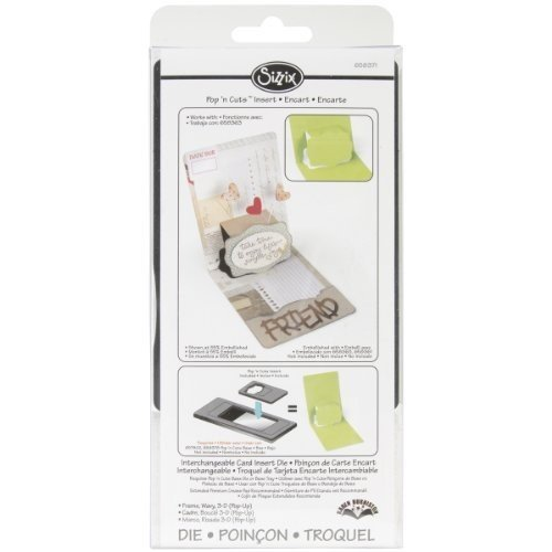 Sizzix Pop 'n Cuts Magnetic Insert Die - Frame, Wavy 3-D (Pop-Up) by Karen Burniston (Pop N Cuts Inserts compare prices)
