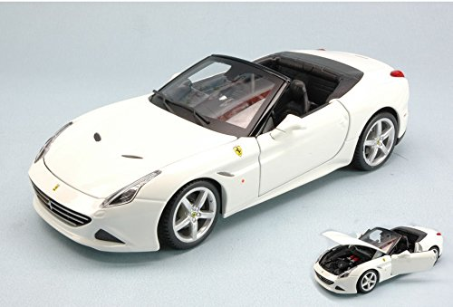 FERRARI CALIFORNIA T OPEN TOP 2014 WHITE 1:24 Burago Auto Stradali modello modellino die cast