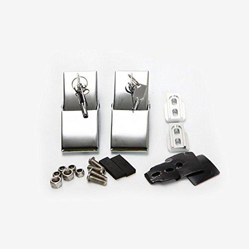 FUWAY Jeep Wrangler JK Hood Lock-Verriegelung Anti-Diebstahl-Hood-Schutz für 2007-2016 Silber