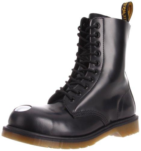 Dr. Martens Men's Maine Boot,Black Smooth,3 UK/4 M US