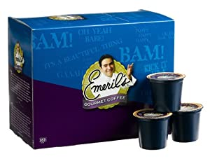 Emeril's Jazzed Up Decaf Coffee, 24-Count K-Cups for Keurig Brewers