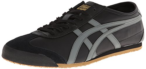 Onitsuka Tiger Mexico 66 Fashion Sneaker, Black/Gray/Gold, 10 M Men's US/11.5 Women's M US