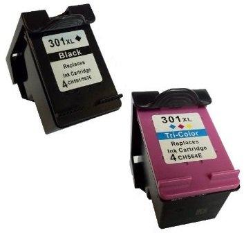 Prestige Cartridge HP 301XL 2 Cartucce d'Inchiostro Compatibile per Stampanti HP Deskjet Serie, Nero/Colore